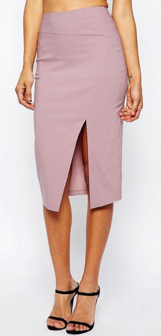 Bengaline Split Bodycon Skirt