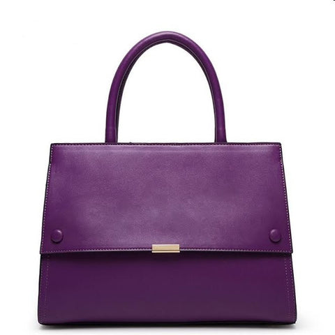 Leatherette Flap Front Tote