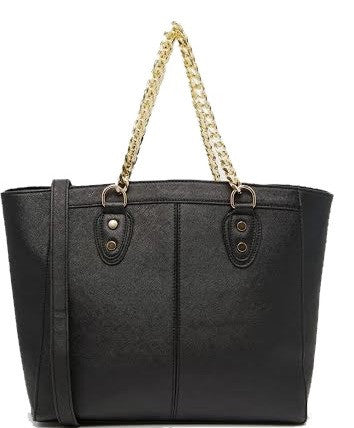 Chain Handle Tote Handbag