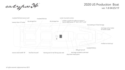 Calypso 34 boat diagram for 2020
