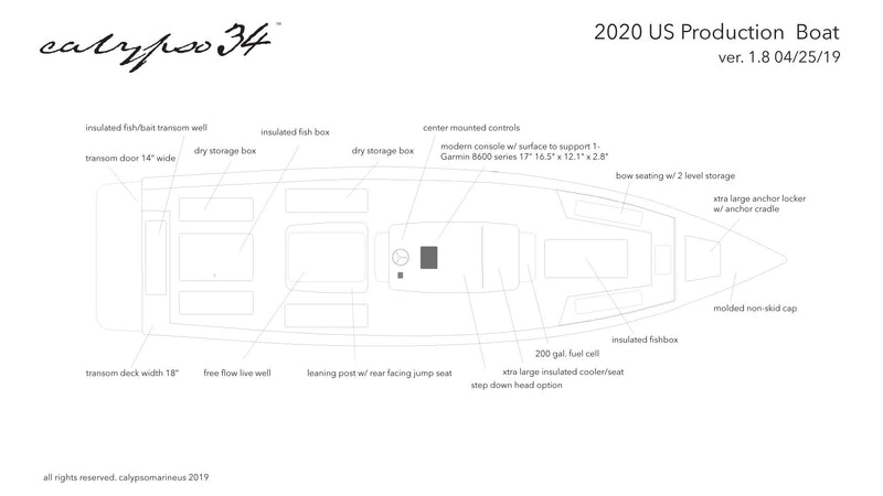 2020 Calypso 34 boat for US market