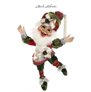 MARK ROBERTS | GIFT WRAPPING ELF,SM 11'' | DESTINATION CHRISTMAS