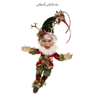 MARK ROBERTS | SLEIGH RIDE ELF,SM 13'' | DESTINATION CHRISTMAS