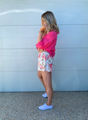 Bloom Linen Shorts