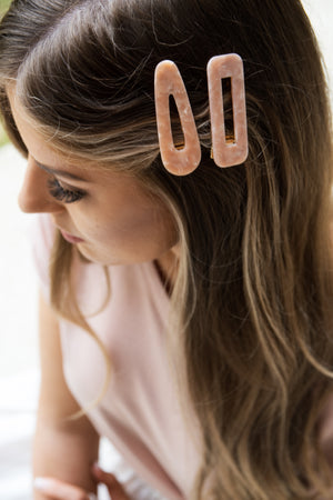 Shona Hair Clip Set - Blush