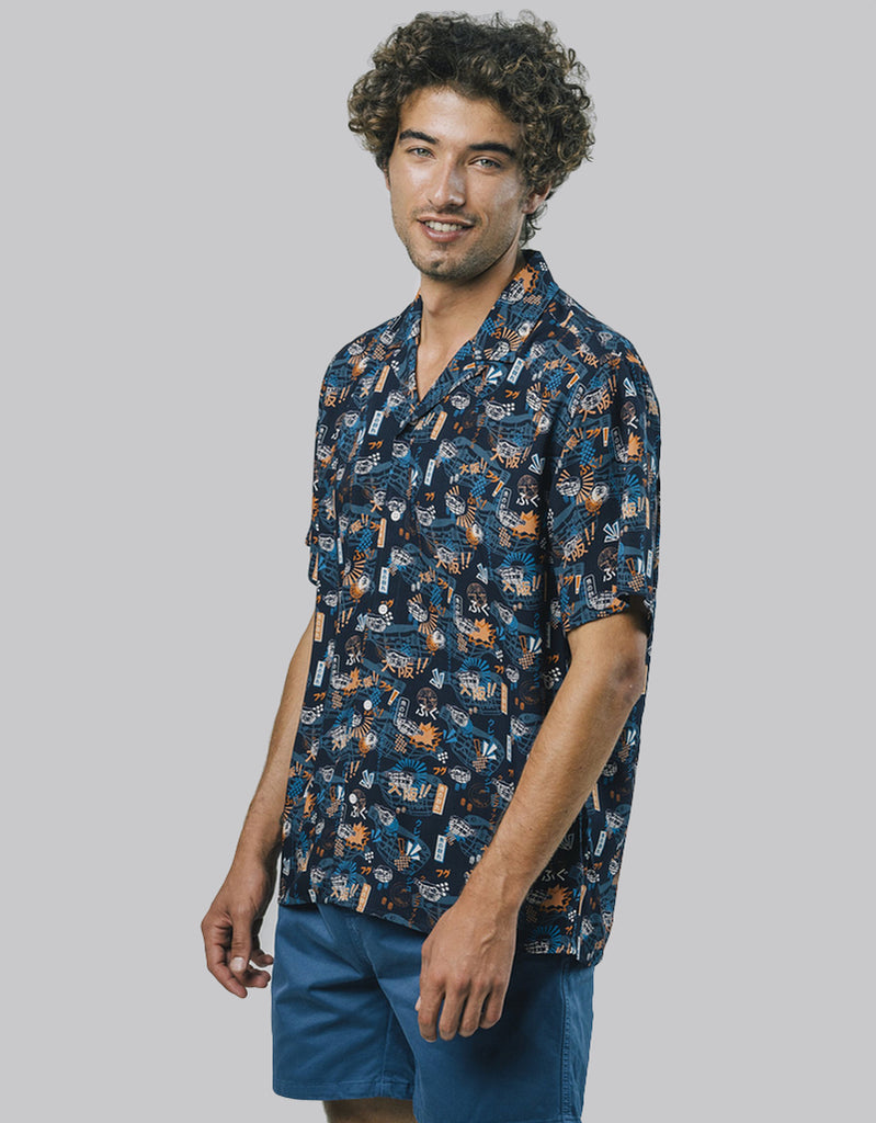 Camisa Crazy Fugu - Tequila Sunset