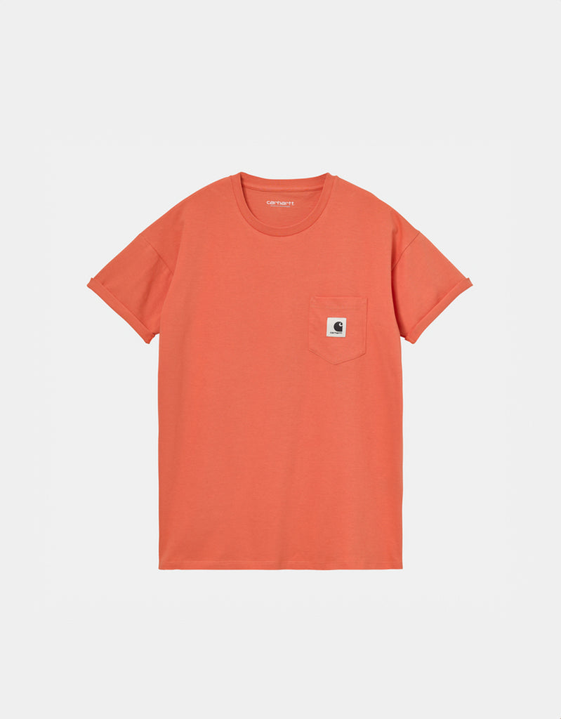 Camiseta W' S/S Pocket T-Shirt - shrimp - Tequila Sunset