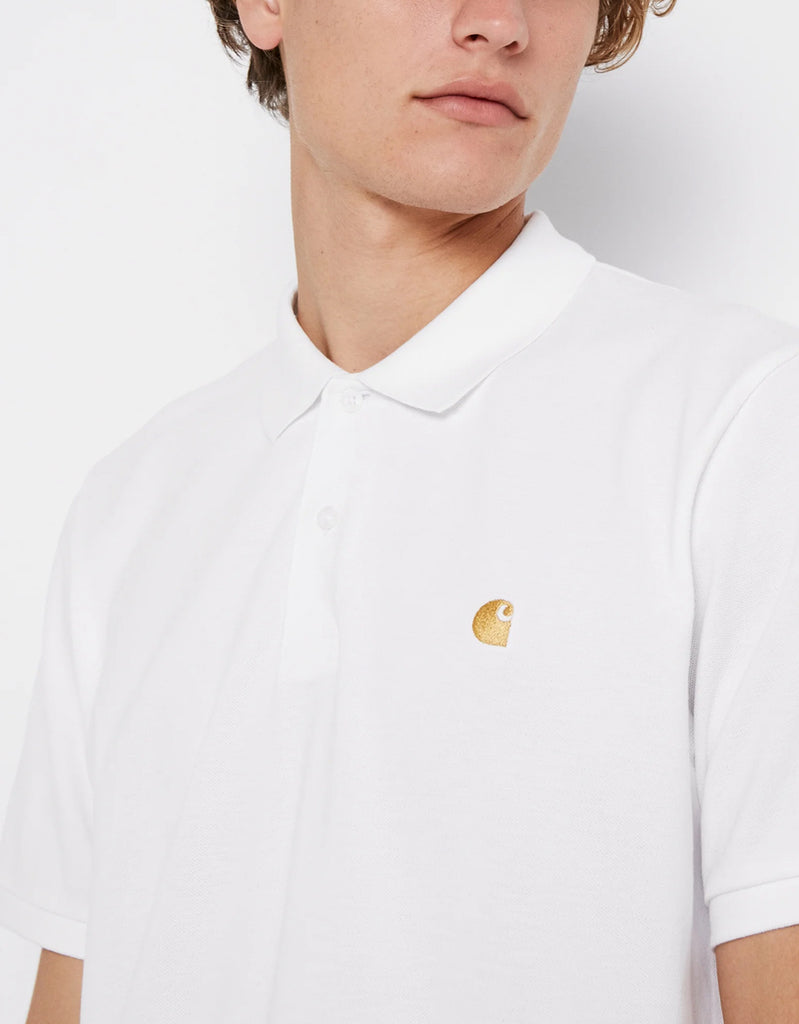 Polo S/S Chase Pique - white - Tequila Sunset