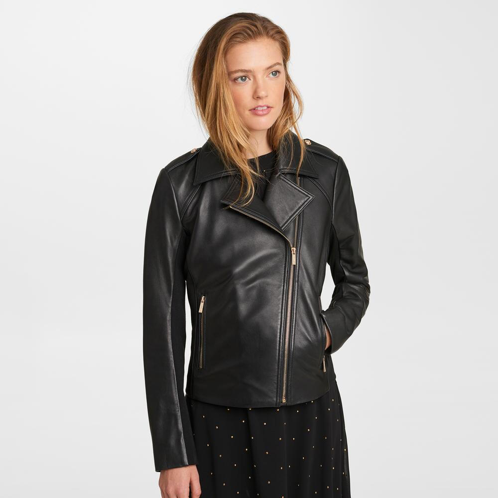 Karl Lagerfeld LEATHER MOTO JACKET