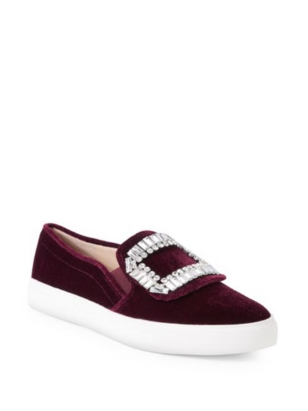 Karl Lagerfeld Paris Ermine 2 Embellished Slip-On Sneakers