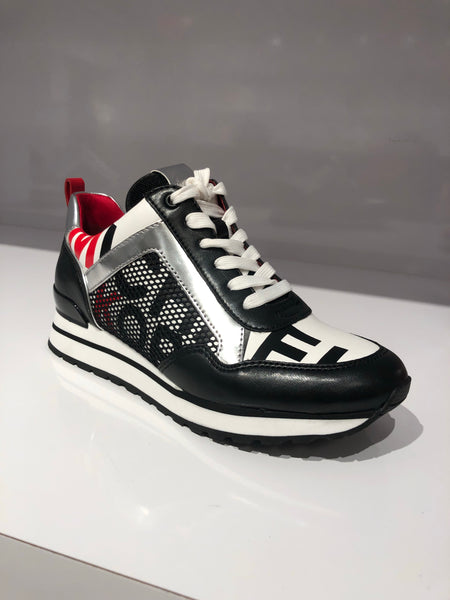 Michael Kors Maddy trainer graphic printed nappa sneaker