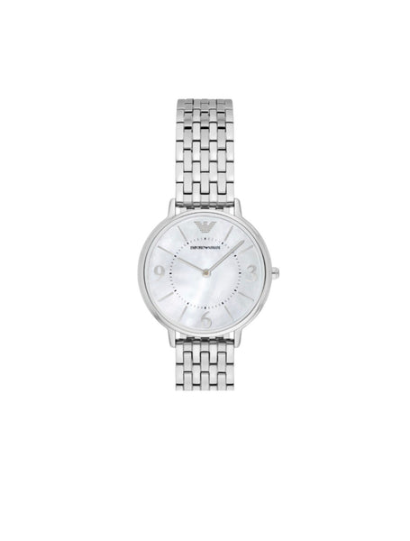 Armani silver dress watch