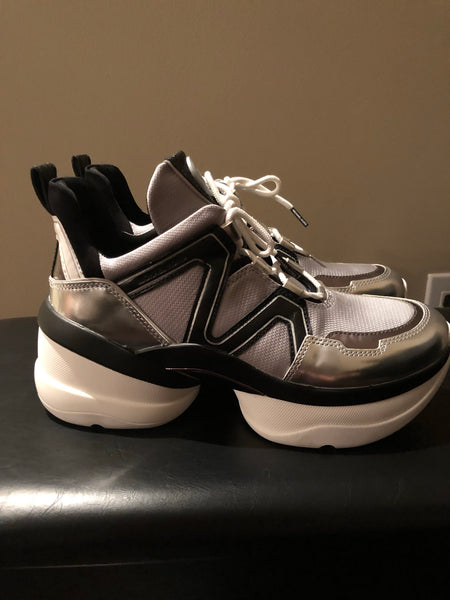 Michael Kors Olympia dad sneakers silver