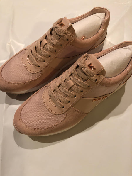 Michael Kors Allie leather trainer soft pink