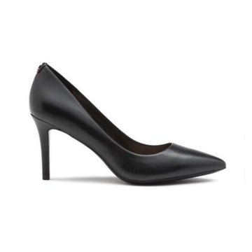 Karl Lagerfeld black leather royale pump