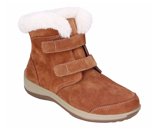 Florence - Camel Women's Boots With Fur