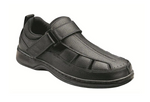 Melbourne - Black Orthotic Sandal (Men's)