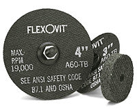"Flexovit Cut-Off Wheel 4"" x 1/16"" x 3/8"", A46T Type 1: F0420"