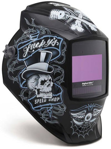 Miller Welding Helmet-Lucky's Speed Shop Elite ClearLight Lens 281001