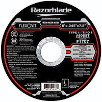 Flexovit Cut-Off Wheel 6 x .045 x 7/8, A60SST Type 1: F1707