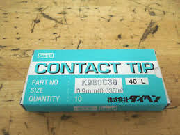"OTC/Daihen Contact Tip .035"" (.86mm) Pk 10 K980C30"