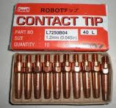 "OTC/Daihen Contact Tip .045"" (1.2mm) Pack of 10 L7250B04"