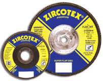 "Flexovit Zircotrex 4-1/2""x7/8"" (No Hub) Grinding, Blending & Finishing Flap Disc Type 27 (Select Grit Below)"