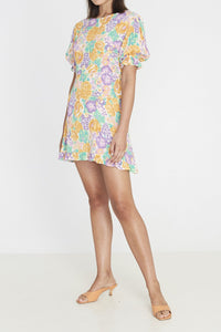 FLORENCE MINI DRESS - ADE FLORAL PRINT