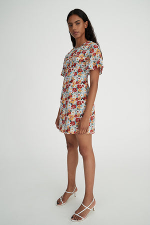 EBONY DRESS  - MONET FLORAL