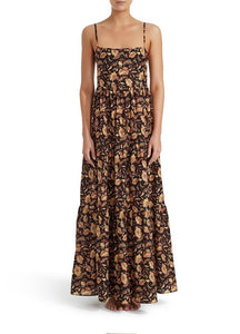TIERED LOW BACK SUNDRESS - GINGER HIBISCUS