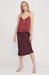BUTTON CAMI - RED LEOPARD