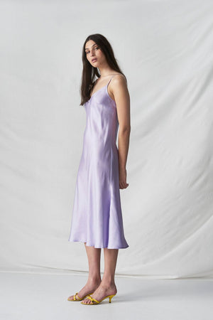 STAND TALL SLIP DRESS - LAVENDER