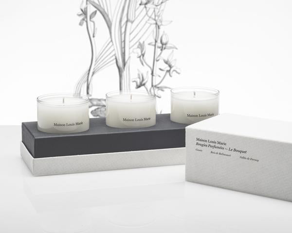 LE BOUQUET MINI CANDLE SET OF 3