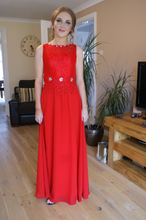 Load image into Gallery viewer, original photo of young lady in prom dress ball gown