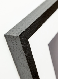 black wood frame corner detail