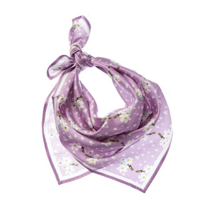 Forget Me Not Silk Bandana