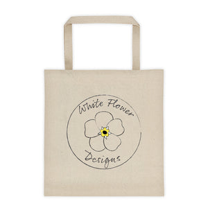 White Flower Designs Canvas Tote bag