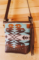 Turquoise Pendleton Medium Purse