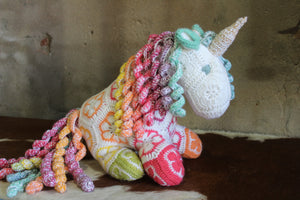 Large Crochet Unicorn