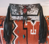 Arrowhead Hairhide Clutch Purse