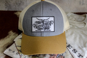 Denim & Gold Logo Hat - New