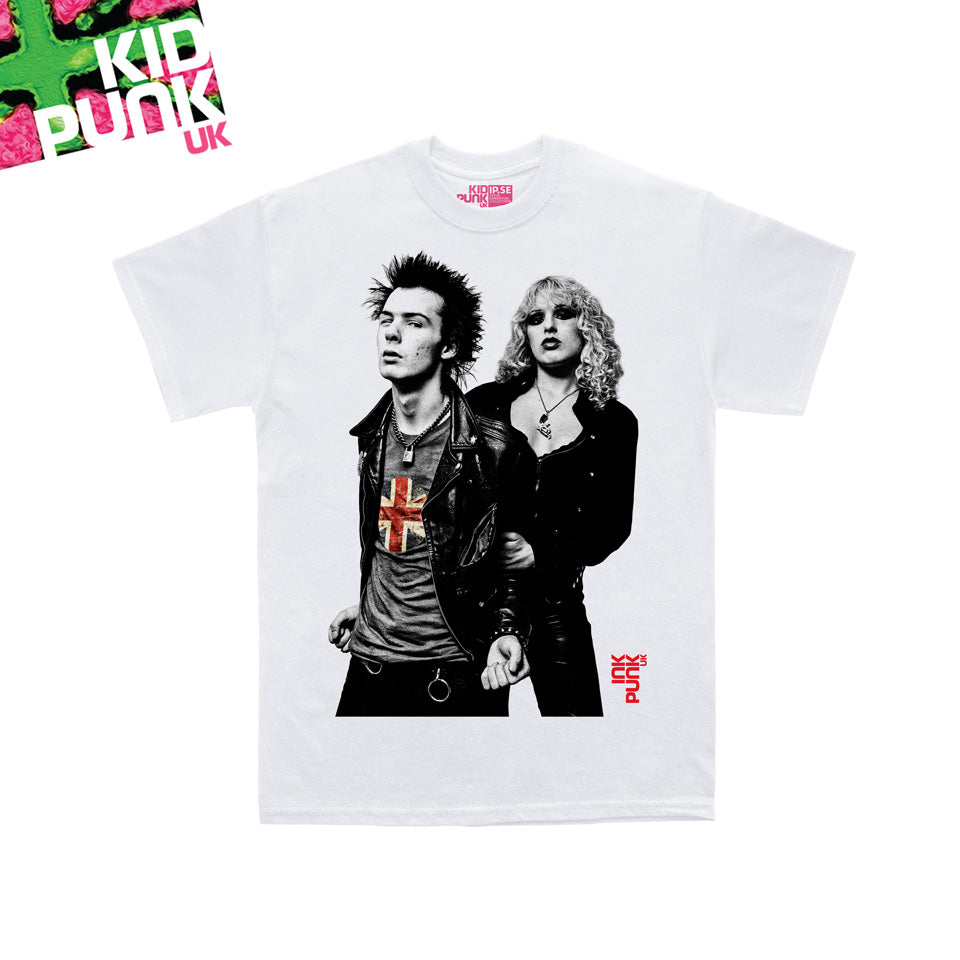 Sid and Nancy (Kidpunk white organic tee)