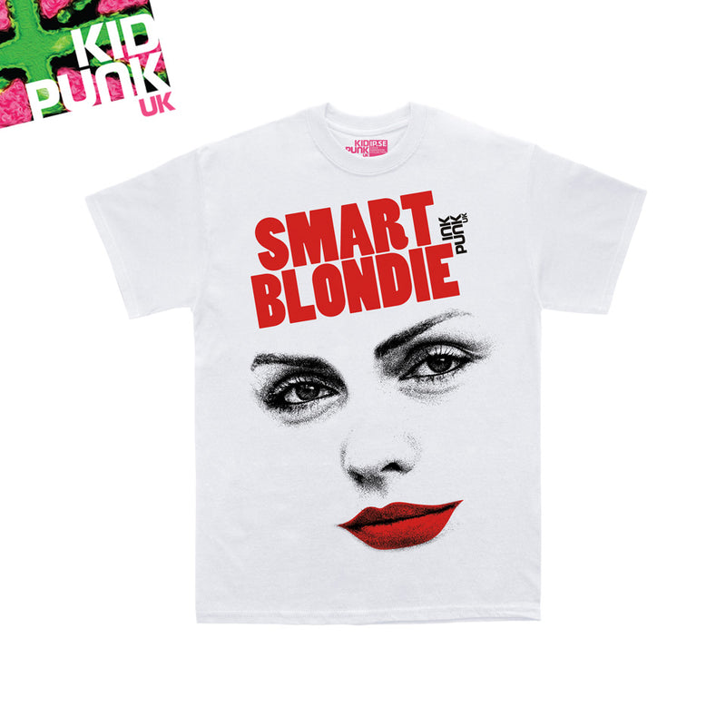 Smart Blondie (Kidpunk white organic tee)