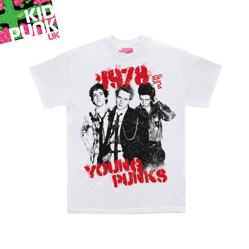 Young Punks (Kidpunk white organic tee)