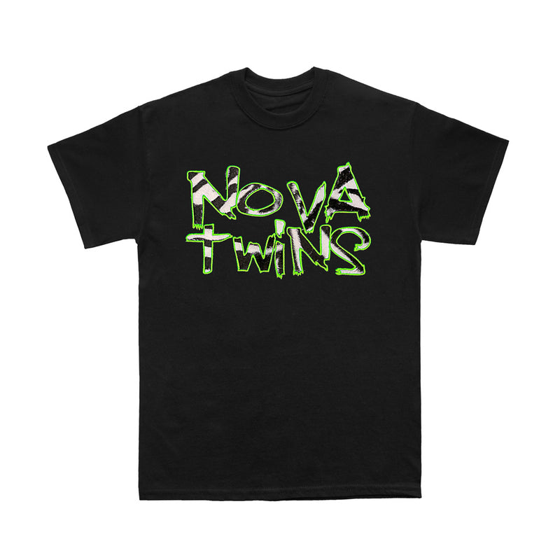 Nova Twins Embroidered Fur Logo (Black T-Shirt) BACK IN STOCK!