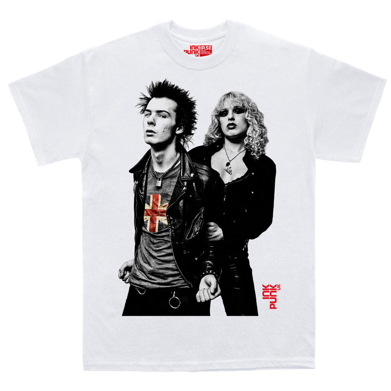 Sid and Nancy (Inkpunk white organic tee)