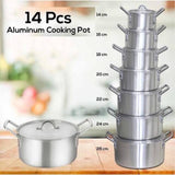 14 Pieces Aluminum Cooking Pot