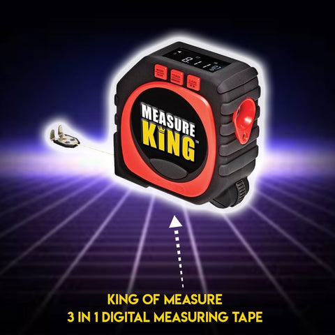 King of Measure - 3 in 1 Digital Measuring Tape