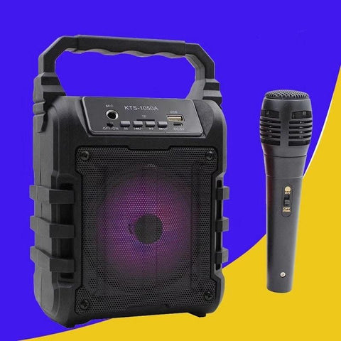 SoundImpact™ Portable Mini Bluetooth Karaoke w/ Microphone + Mobile Phone Screen Amplifier