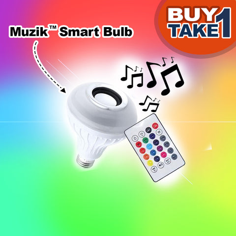 Muzik™ Smart Bulb with Remote - BUY 1 TAKE 1